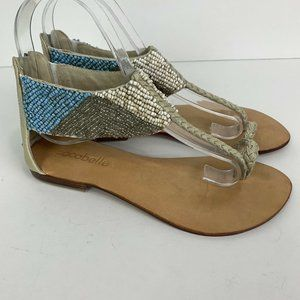 2 for $20 Cocobelle Beaded Leather Thong Sandals